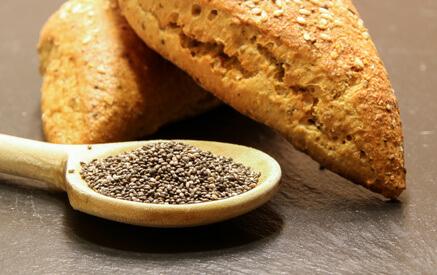 Chia Samen Brot und Gebäck
