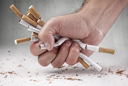 Zigarettensucht überwinden trotz den Entzugserscheinungen von Nikotin
