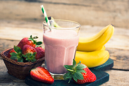 Strawberry and banana superfood smoothie