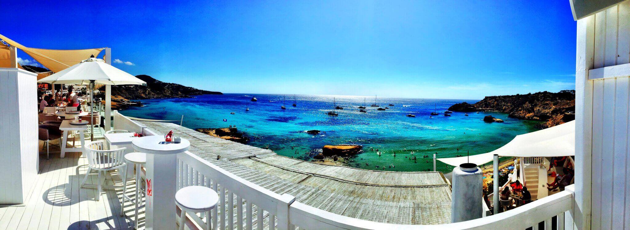 Ausblick Cotton Beach Ibiza