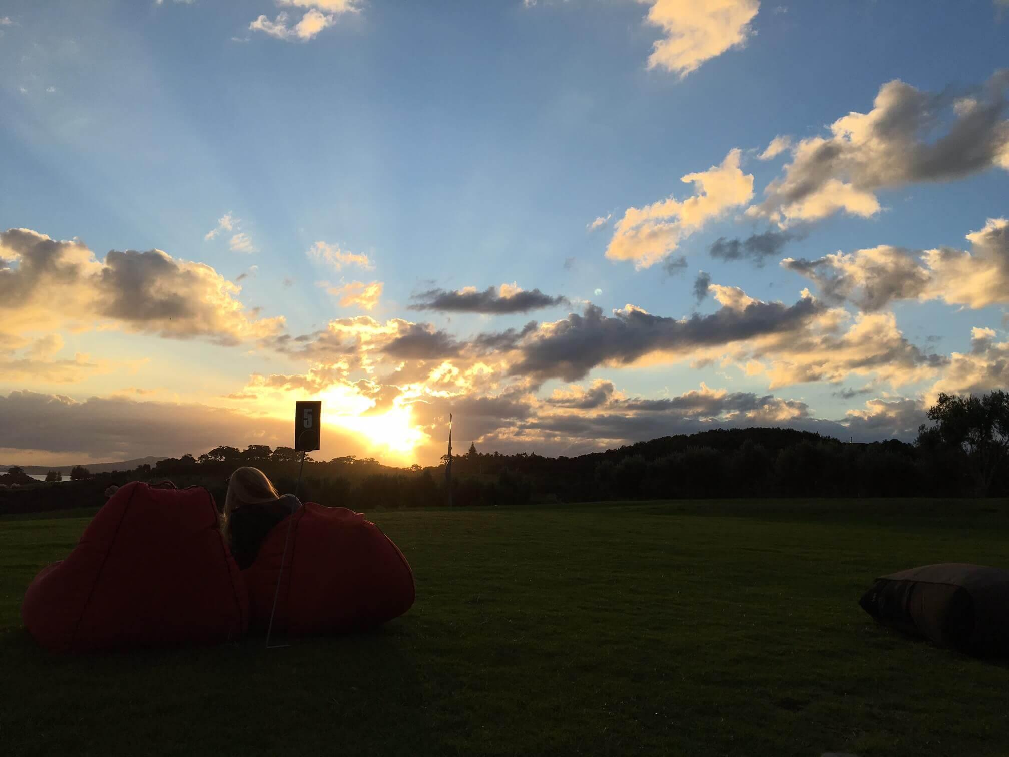 Sonnenuntergang in Waiheke, Neuseeland